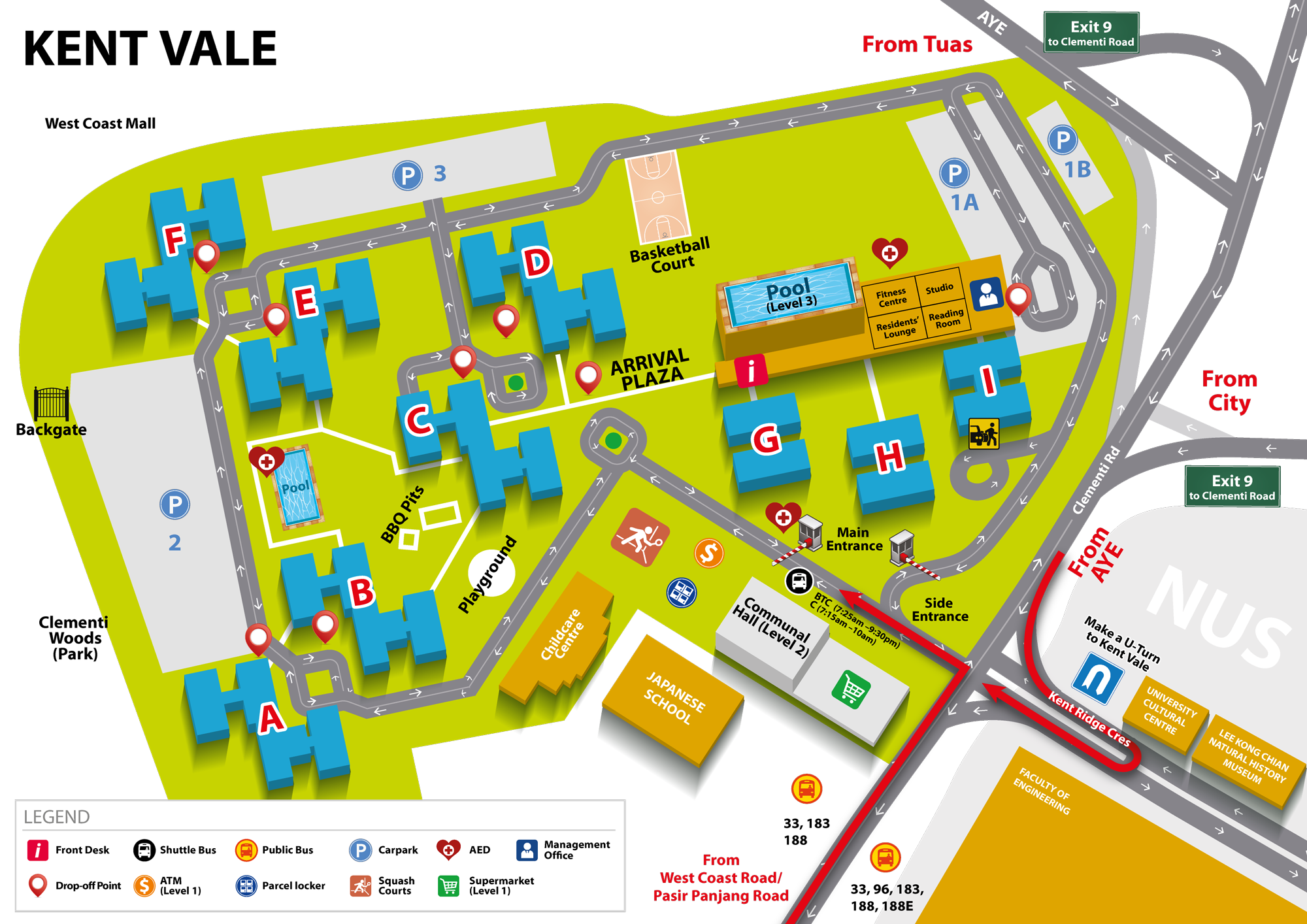 Kent Campus Map Campus Map – NUS Office of Housing Services (OHS)